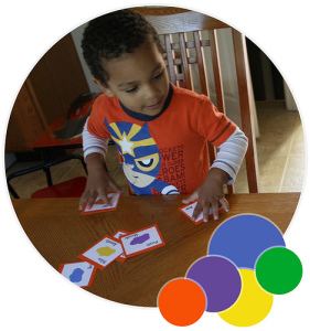 little man learning colors