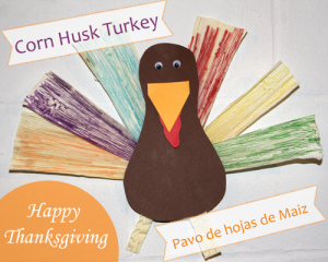 Corn husk turkey