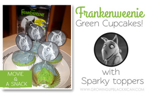 Frankenweenie movie snack cupcakes