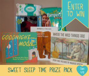 sweet sleep time prize pack Pampers giveaway ends 4-18