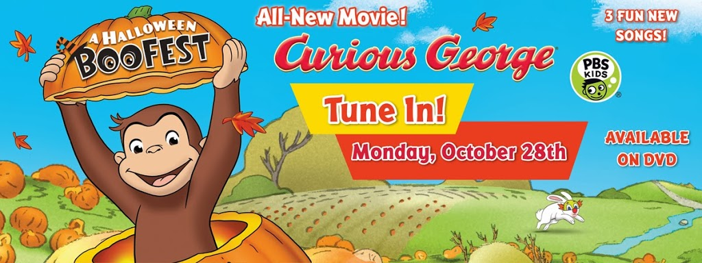 halloween boo fest with curious george boofestpbs - Curious George Halloween Games