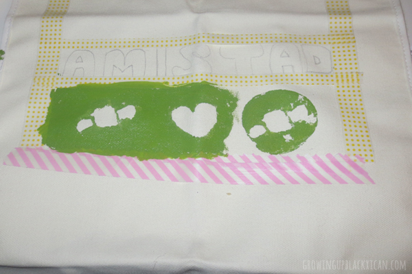 diy papel picado apron-easy potato stamp