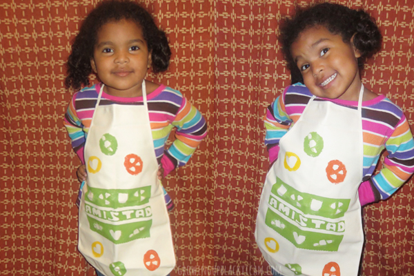 diy papel picado apron for kids