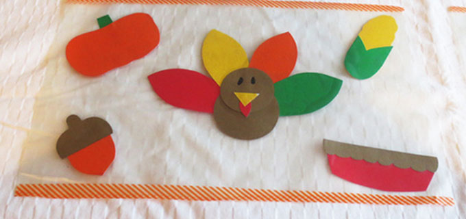 thanksgiving craft kids placemats