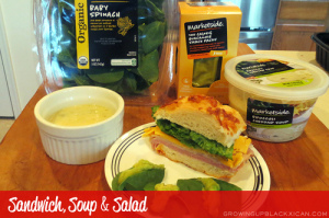 sandwich soup salad