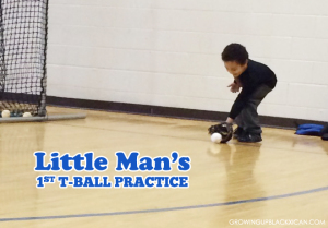 little man tee ball days_first practice