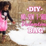 DIY: Valentine No-Sew T-shirt Bag