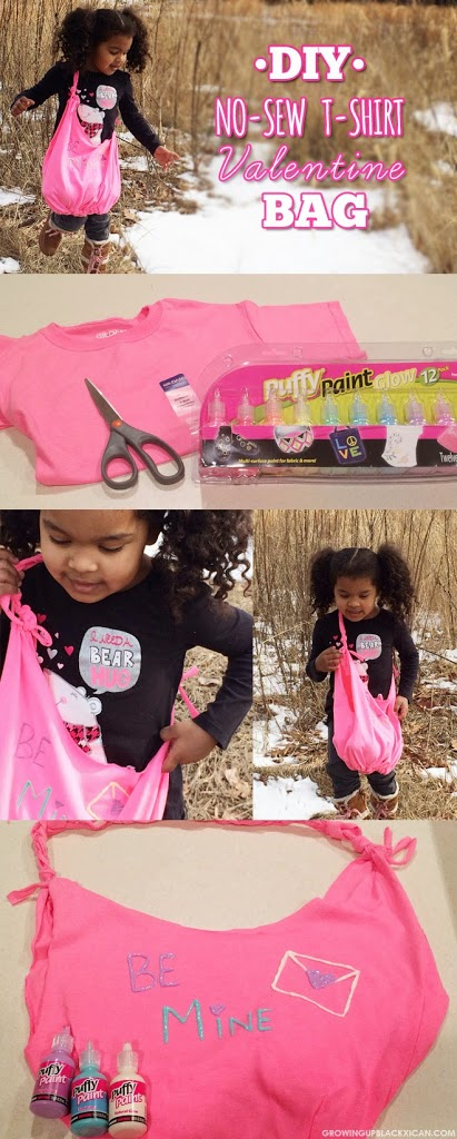 DIY Valentine No Sew T Shirt Bag GUBlife