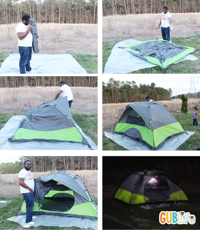 Ozark Trail 4 person Instant Dome Tent & 5 Must Haves for Backyard Camping - GUBlife