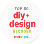 One of 50 Top Favorite Design and DIY Mom Bloggers