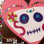 Day of the Dead DIY Felt Sugar Skull