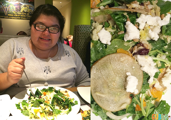 Harvest Kale salad at CPK