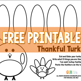 free printable thankful turkey-gubing thanks-