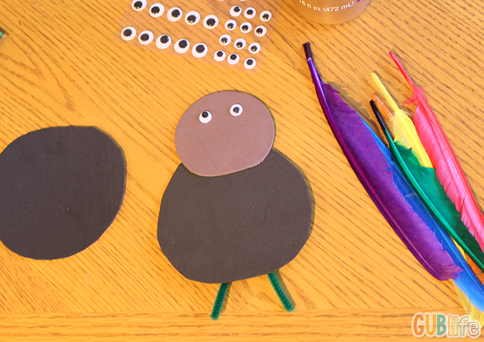 kids craft- turkey foam coaster