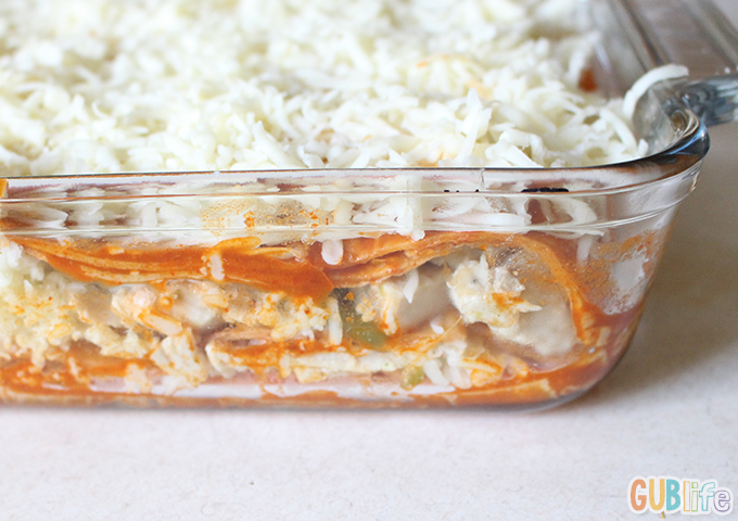 turkey enchilada pie- cheesy and layered