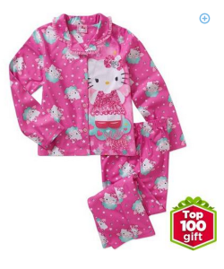 top 100 gifts girls character 2pc pjs- hello kitty