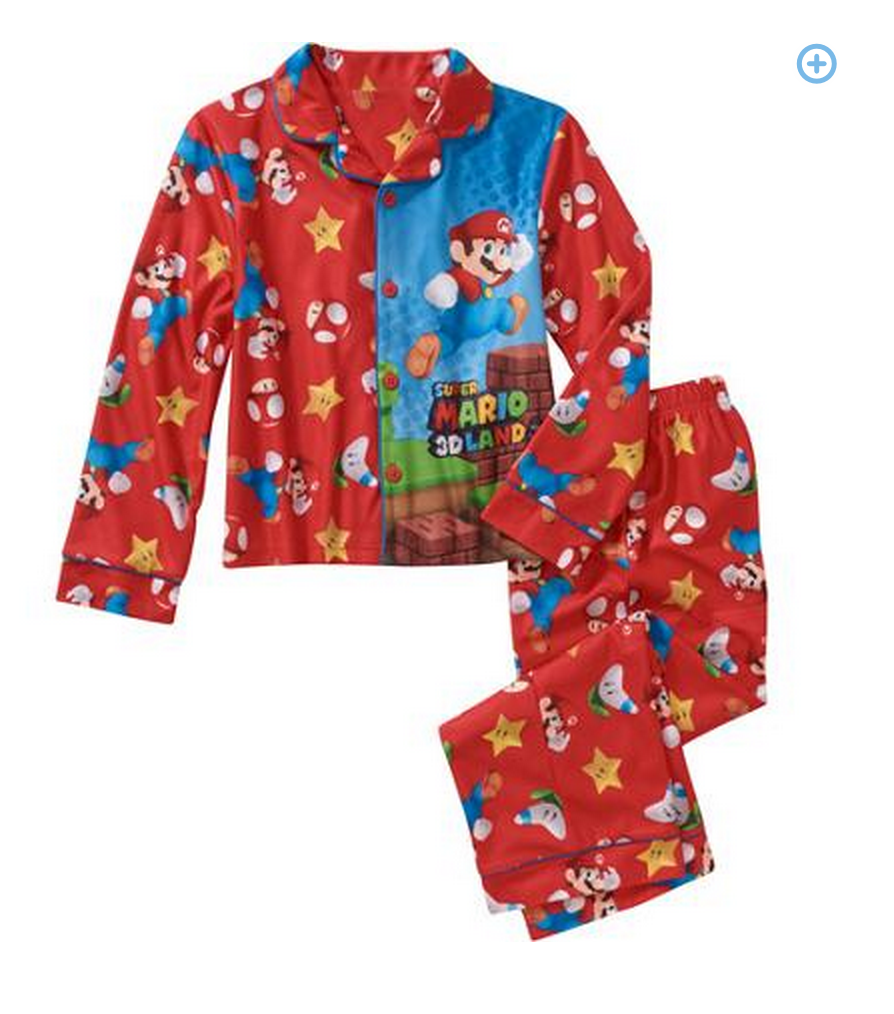top 100 gifts boys character 2pc pjs- super mario