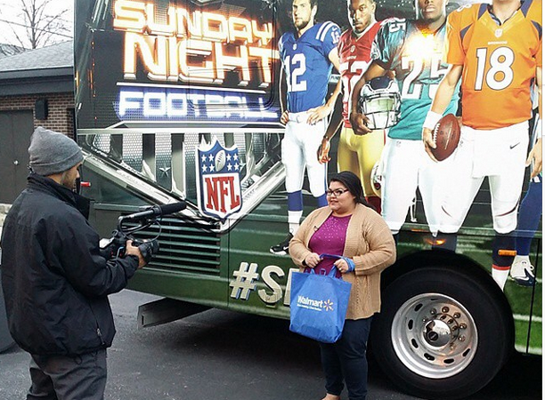 NBC's SNF bus with Walmart and RMH
