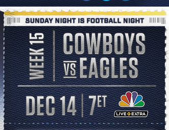 SNF EAGLES COWBOYS IN PHILLY