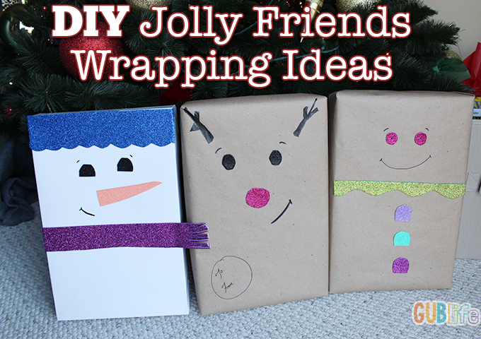 diy jolly friends wrapping ideas