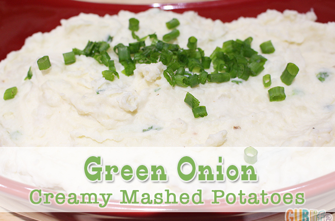 green onion creamy mashed potatoes with greek yogurt cream cheese
