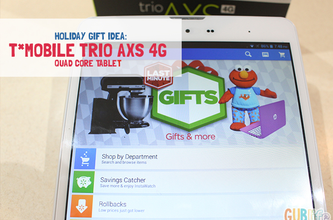 holiday gift idea T*Mobile Trio at walmart