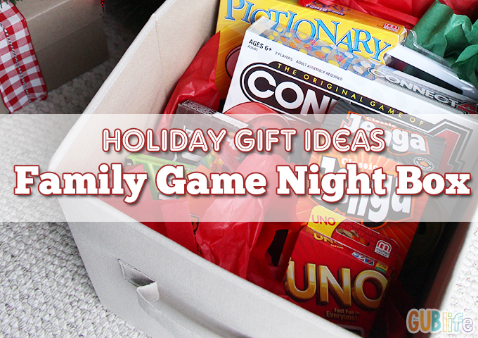 holiday gifts FAMILY GAME NIGHT in a box
