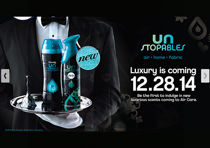 luxury with febreze unstopables
