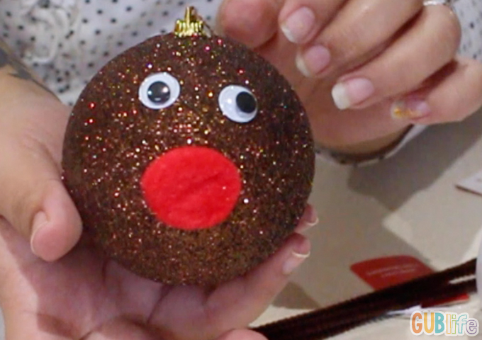 red nose reindeer ornament kids craft