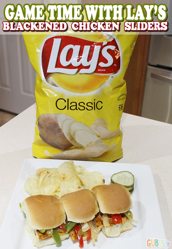 game time with lays- chicken sliders