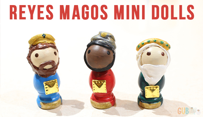 reyes magos mini dolls-wooden