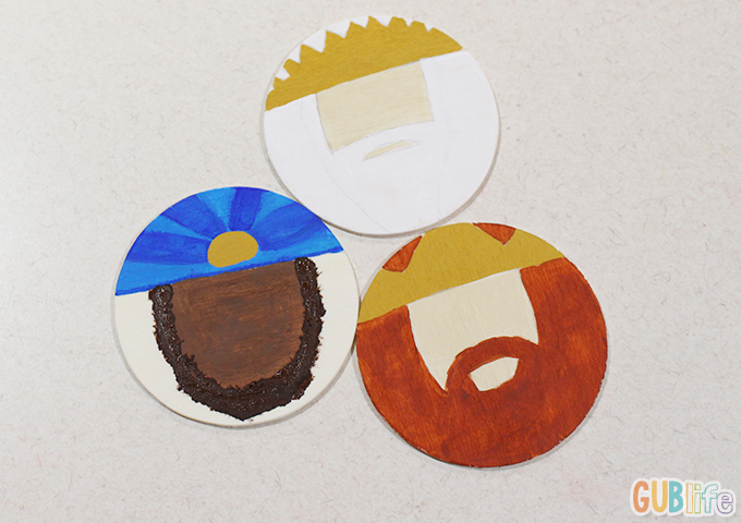 three kings painted kids craft