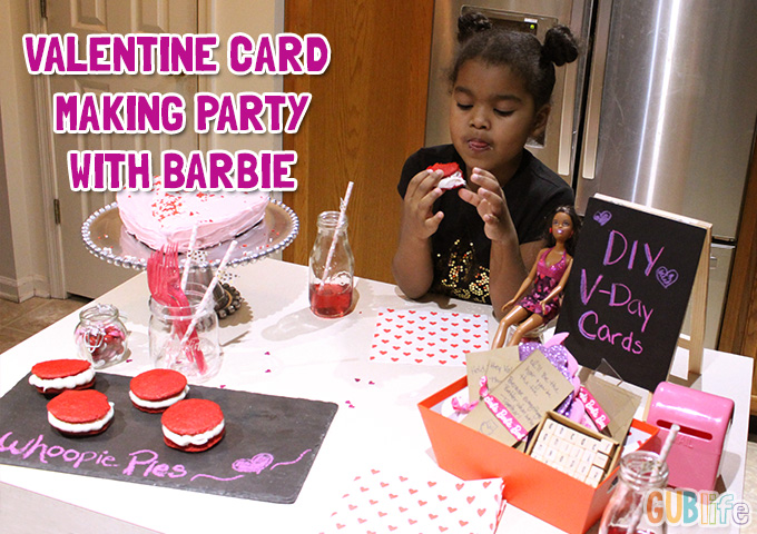 valentine party with barbie-