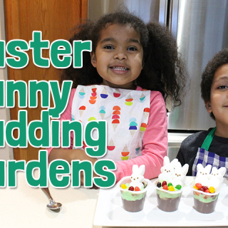 easter bunny pudding garden