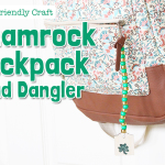 Kid-Friendly Crafts- Shamrock Backpack Bead Dangler