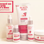 A Renewed me with Burt's Bees Renewal Line #28DayFaceCleanse