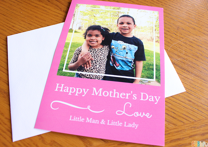Modern Techie Mothers day- card with HP