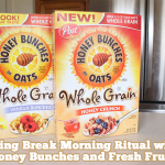Spring Break: Morning Breakfast Ritual with Honey Bunches of Oats