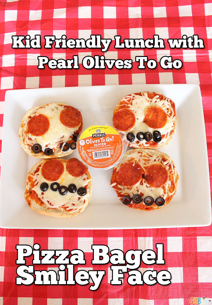 pizza bagel smiley face