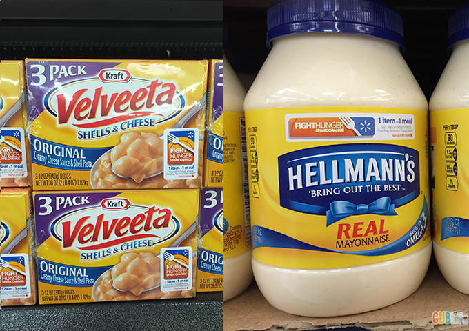 products at Walmart for Fight Hunger
