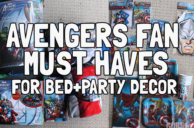 Avengers Fan Must Haves for Bed and Party Decor