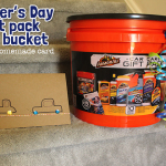Father's Day Gift Pack In a Bucket + Easy Homemade Card