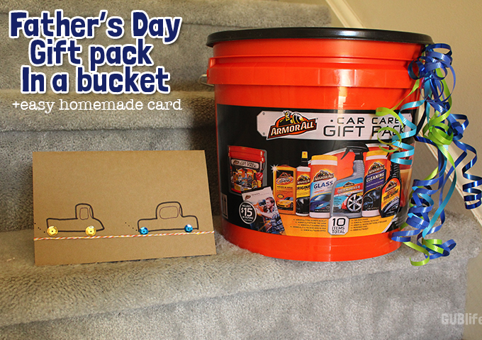 fathers day gift pack in a bucket