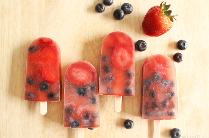 red white and blue paletas