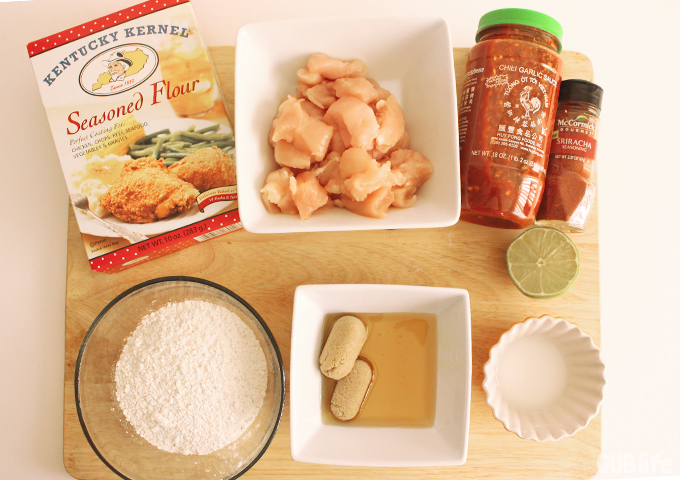 Sweet and Spicy Crispy Chicken Bites-Ingredients