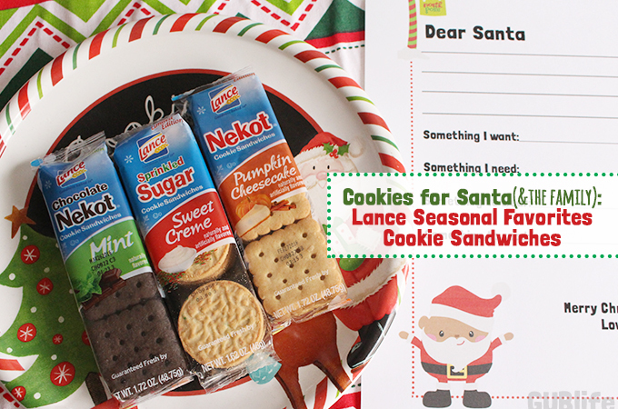 Lance Seasonal Favorites Cookies for Santa