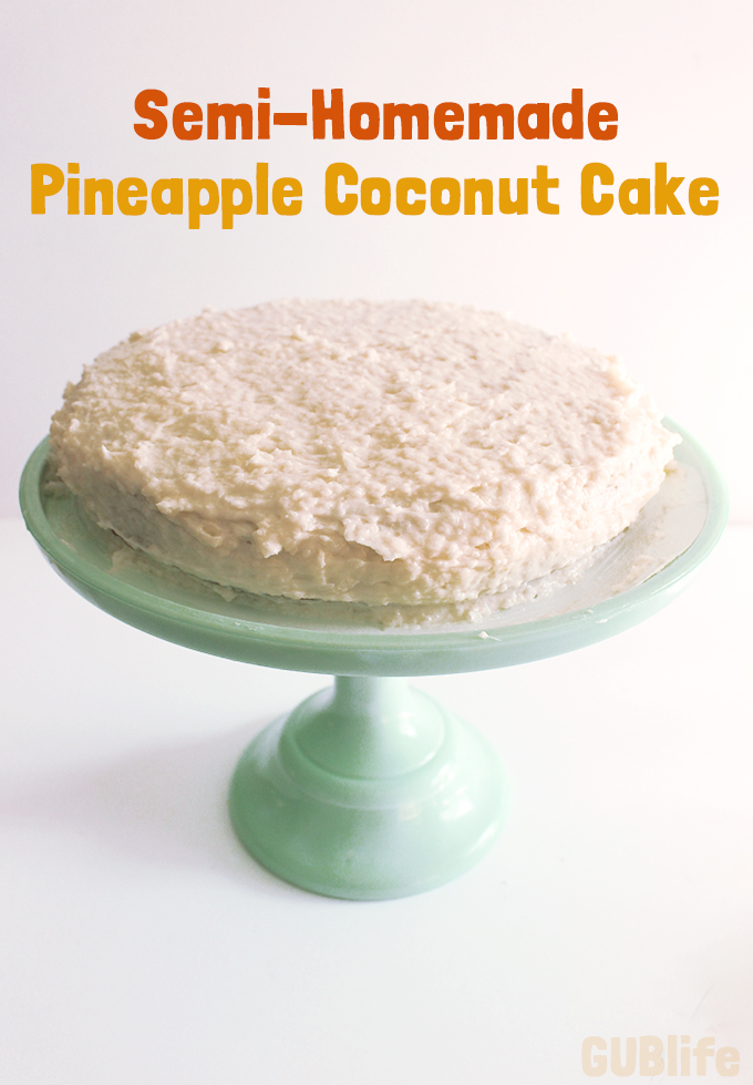 Semi-Homemade Pineapple Coconut cake