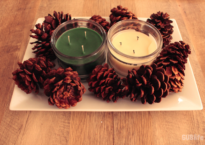 diy-table-centerpiece-pine-cones-candles