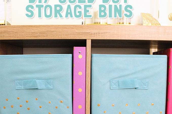 DIY-GOLD-DOT-STORAGE-BIN