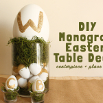 DIY Monogram Easter Table Decor